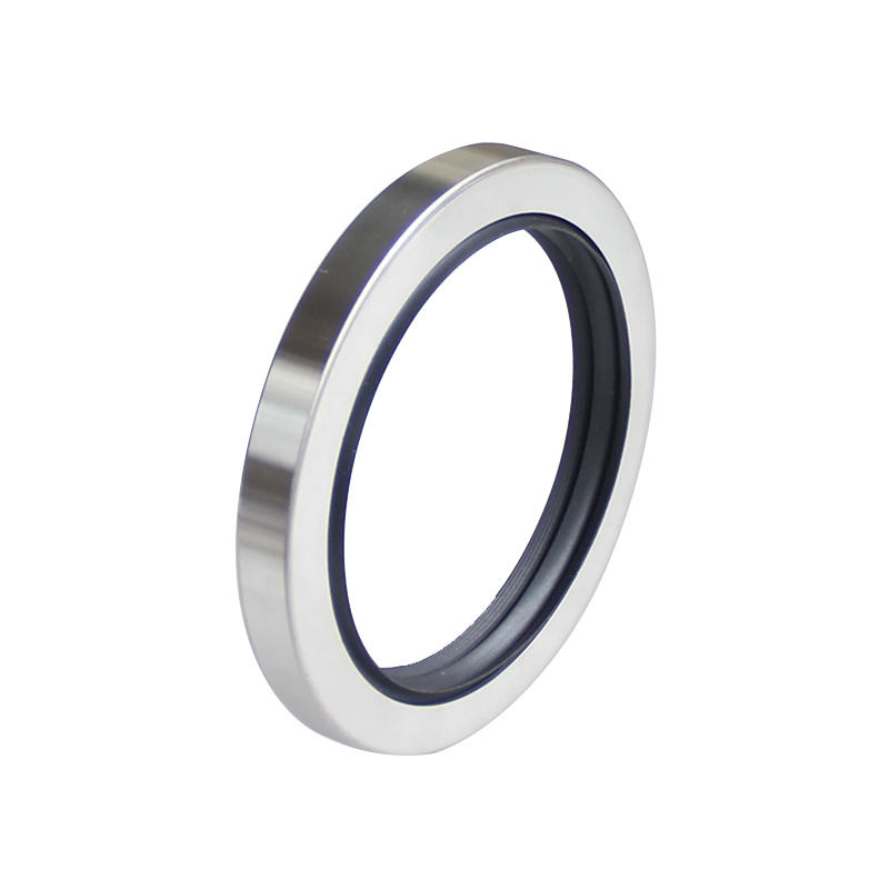 Stainless Steel D type-Triple Rotary Lip PTFE Oil Seal